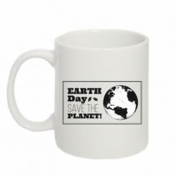 Кружка 320ml Earth Day save the planet!
