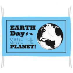 Флаг Earth Day save the planet!
