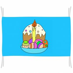 Прапор Easter cake and eggs