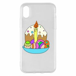 Чохол для iPhone X/Xs Easter cake and eggs