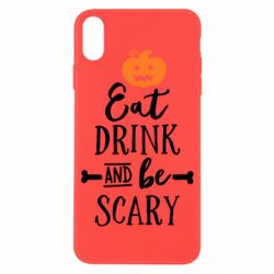 Чехол для iPhone X Eat Drink and be Scary - FatLine