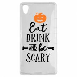 Чехол для Sony Xperia Z1 Eat Drink and be Scary - FatLine