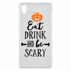 Чехол для Sony Xperia Z2 Eat Drink and be Scary - FatLine