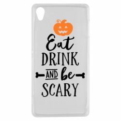 Чехол для Sony Xperia Z3 Eat Drink and be Scary - FatLine