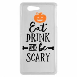 Чехол для Sony Xperia Z3 mini Eat Drink and be Scary - FatLine