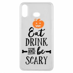 Чехол для Samsung A6s Eat Drink and be Scary - FatLine