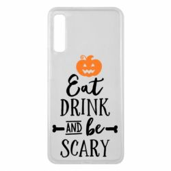 Чехол для Samsung A7 2018 Eat Drink and be Scary - FatLine