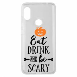 Чехол для Xiaomi Redmi Note 6 Pro Eat Drink and be Scary - FatLine
