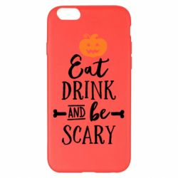 Чехол для iPhone 6 Plus/6S Plus Eat Drink and be Scary - FatLine