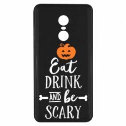 Чехол для Xiaomi Redmi Note 4x Eat Drink and be Scary - FatLine