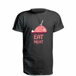 Удлиненная футболка Eat meat