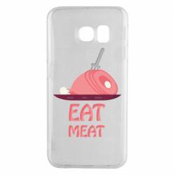 Чехол для Samsung S6 EDGE Eat meat