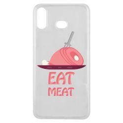 Чехол для Samsung A6s Eat meat