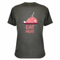 Камуфляжная футболка Eat meat
