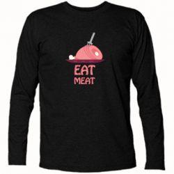 Футболка с длинным рукавом Eat meat