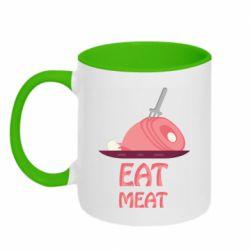 Кружка двухцветная 320ml Eat meat