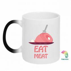 Кружка-хамелеон Eat meat