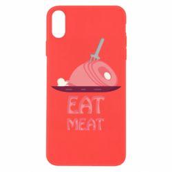 Чехол для iPhone X/Xs Eat meat