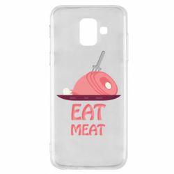 Чехол для Samsung A6 2018 Eat meat