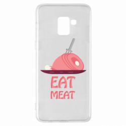 Чехол для Samsung A8+ 2018 Eat meat
