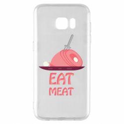 Чехол для Samsung S7 EDGE Eat meat