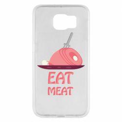 Чехол для Samsung S6 Eat meat
