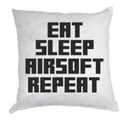 Подушка Eat sleep airsoft - FatLine