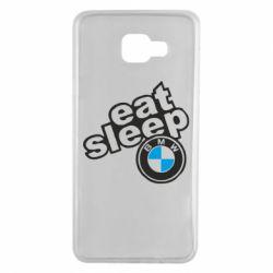 Чохол для Samsung A7 2016 Eat, sleep, BMW