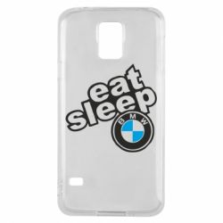 Чохол для Samsung S5 Eat, sleep, BMW