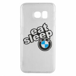 Чохол для Samsung S6 EDGE Eat, sleep, BMW