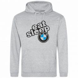 Мужская толстовка Eat, sleep, BMW