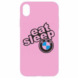 Чохол для iPhone XR Eat, sleep, BMW