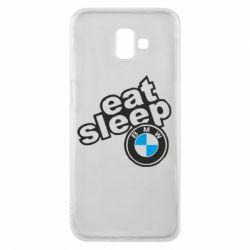 Чохол для Samsung J6 Plus 2018 Eat, sleep, BMW