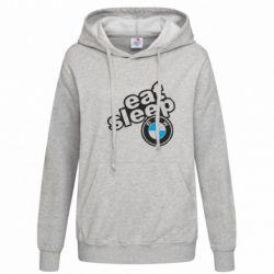 Женская толстовка Eat, sleep, BMW