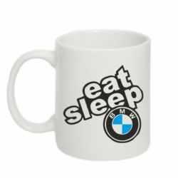 Кружка 320ml Eat, sleep, BMW