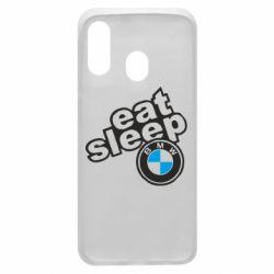Чохол для Samsung A40 Eat, sleep, BMW