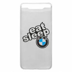 Чохол для Samsung A80 Eat, sleep, BMW
