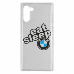 Чохол для Samsung Note 10 Eat, sleep, BMW