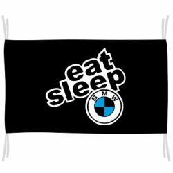 Прапор Eat, sleep, BMW