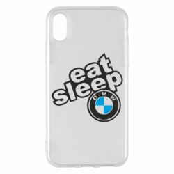 Чохол для iPhone X/Xs Eat, sleep, BMW