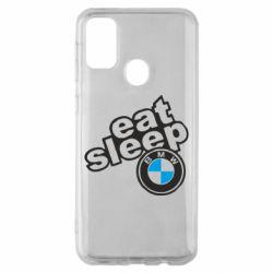 Чохол для Samsung M30s Eat, sleep, BMW