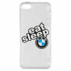 Чохол для iphone 5/5S/SE Eat, sleep, BMW
