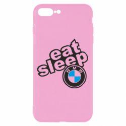 Чохол для iPhone 8 Plus Eat, sleep, BMW