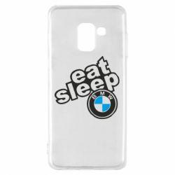 Чохол для Samsung A8 2018 Eat, sleep, BMW
