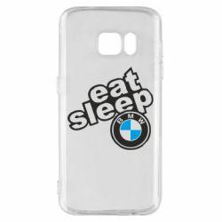 Чохол для Samsung S7 Eat, sleep, BMW