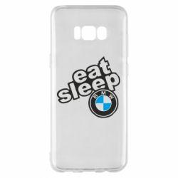 Чохол для Samsung S8+ Eat, sleep, BMW