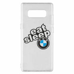 Чохол для Samsung Note 8 Eat, sleep, BMW