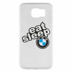 Чохол для Samsung S6 Eat, sleep, BMW