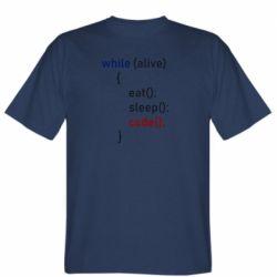 Чоловіча футболка Eat, Sleep, Code