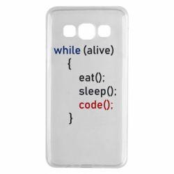 Чохол для Samsung A3 2015 Eat, Sleep, Code